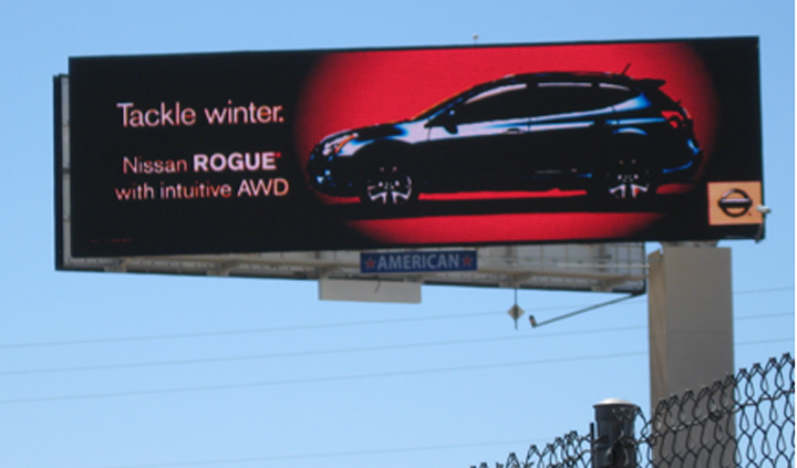 Nissan billboard
