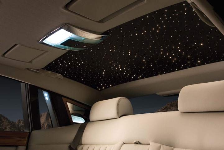 Starlight headliner on the Phantom Sedan