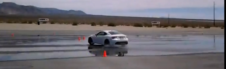 Scion FR-S drifting in a skid