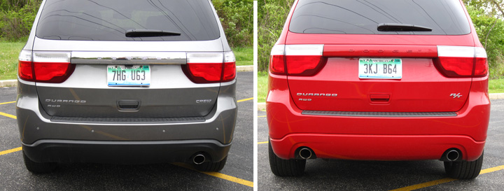 2012 Dodge Durango Crew and R/T (rears)
