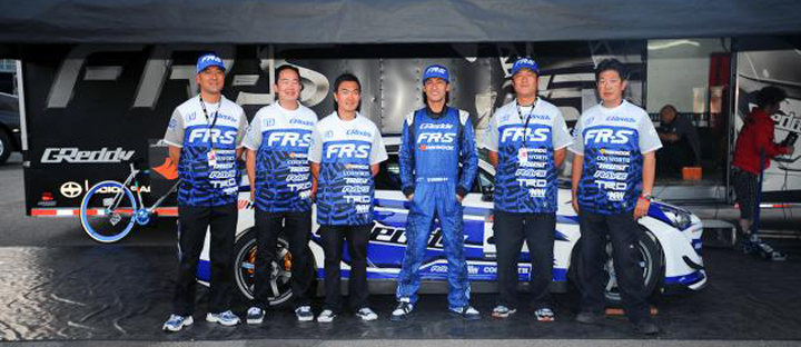 Ken Gushi with his FR-S support team
