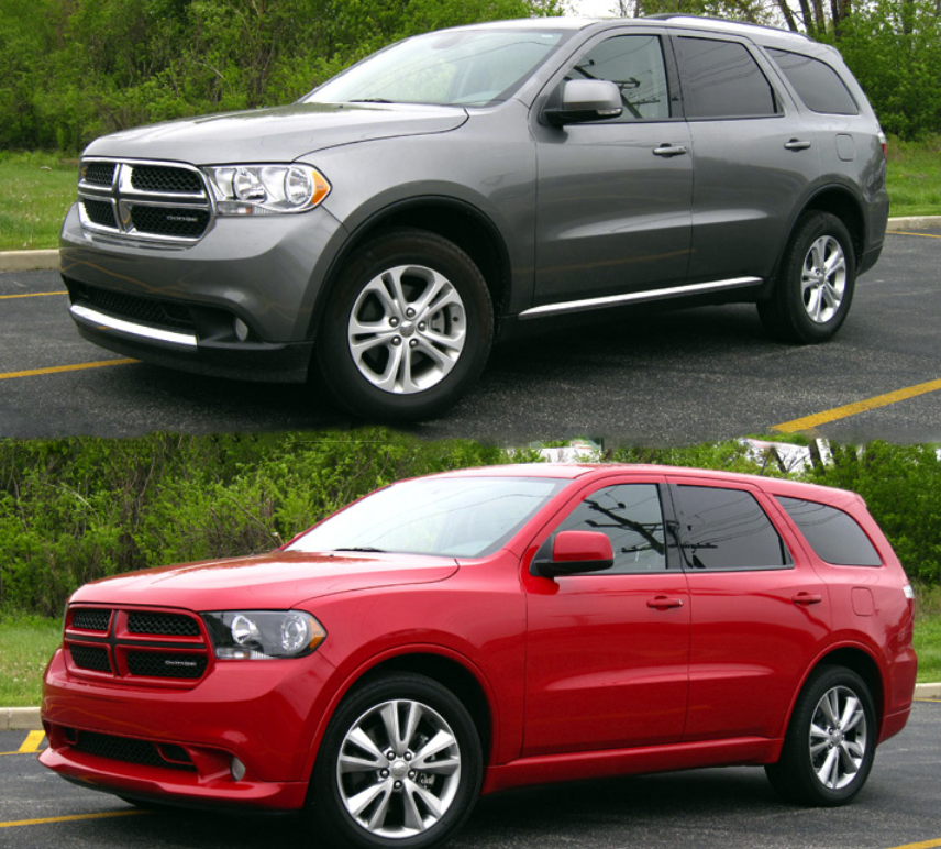 2018 Dodge Durango Interior: 2012 Dodge Durango: Crew Vs. R/T