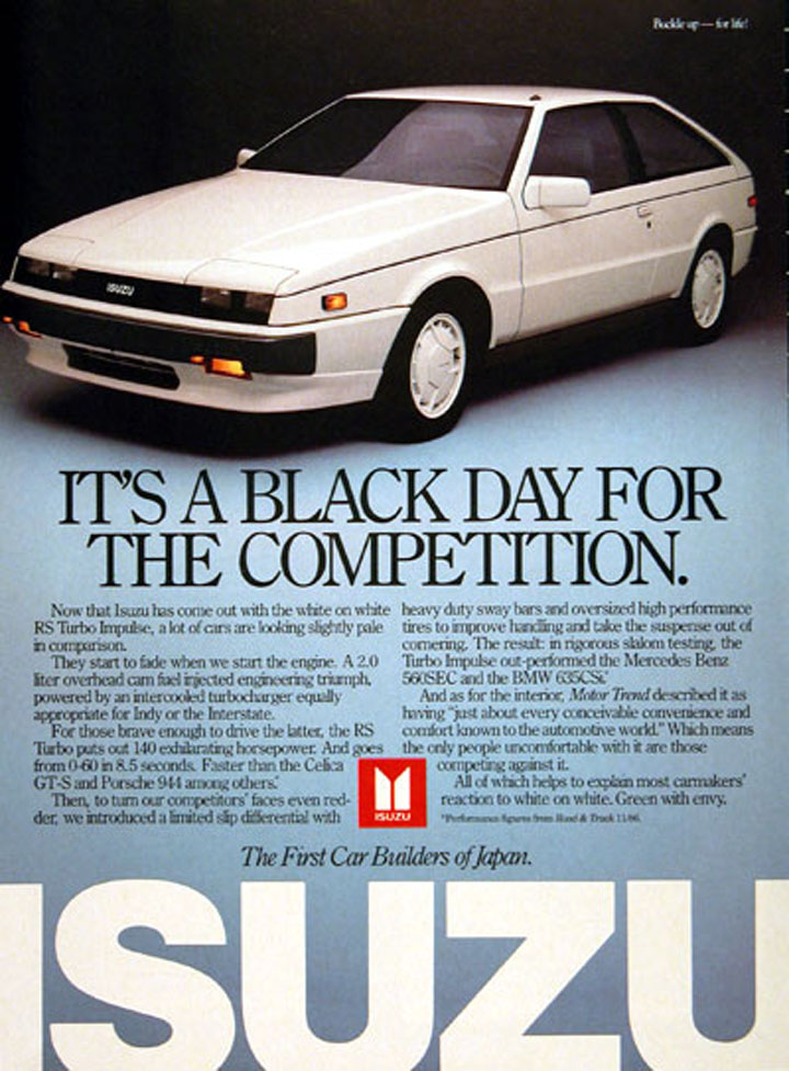 Isuzu Impulse ad