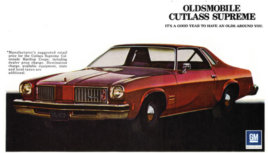 How To Buff A Car >> Classic Car Ad: 1975 Oldsmobile Cutlass Supreme | The Daily Drive | Consumer Guide® The Daily ...