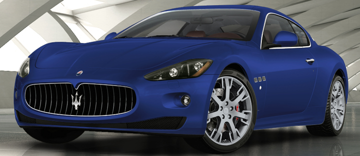 2012 Maserati GranTurismo in Blu Mediterraneo, a super-pricey matte-finish paint