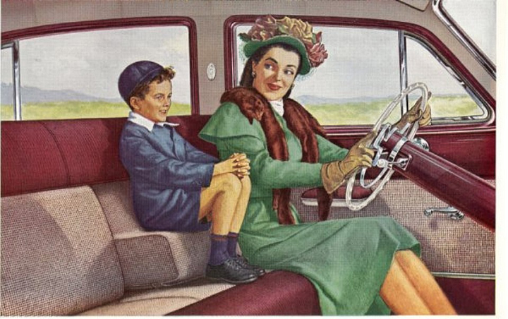 1949 Fraser, before child seats