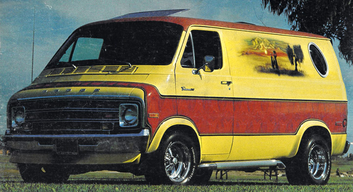Cragar S/S wheels on 1970s custom van