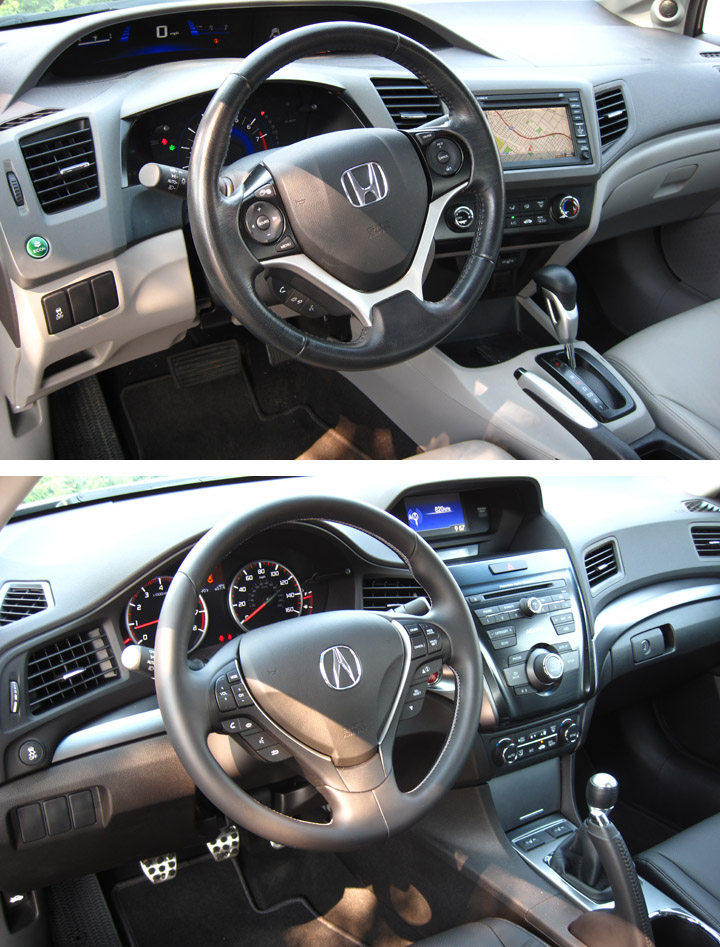 Acura Mdx 2016 Interior >> 2013 Acura ILX vs. 2012 Honda Civic: A Real-World Walkaround | The Daily Drive | Consumer Guide ...