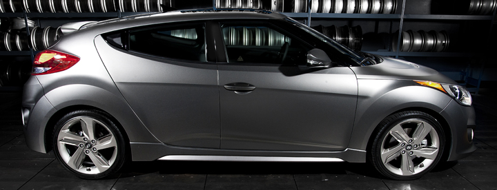 2013 Hyundai Veloster Turbo with Matte Gray Paint Option