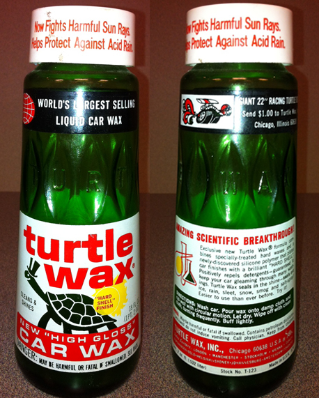 Vintage Turtle Wax Bottles