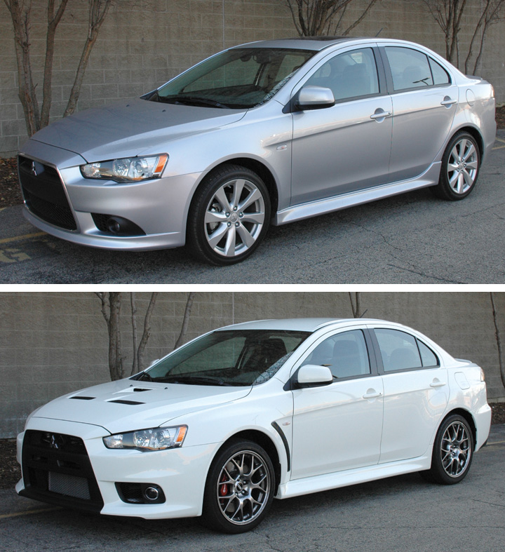 Real-World Walk-around: 2013 Mitsubishi Lancer GT vs. 2013 Mitsubishi Lancer Evolution MR | The ...
