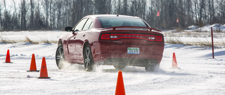 Dodge Charger in Snow