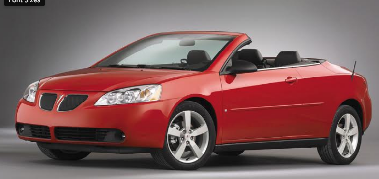 Future Collectible 2006 Pontiac G6 Gtp Convertible The Daily Drive Consumer Guide