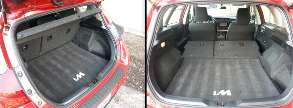 Scion iM cargo area