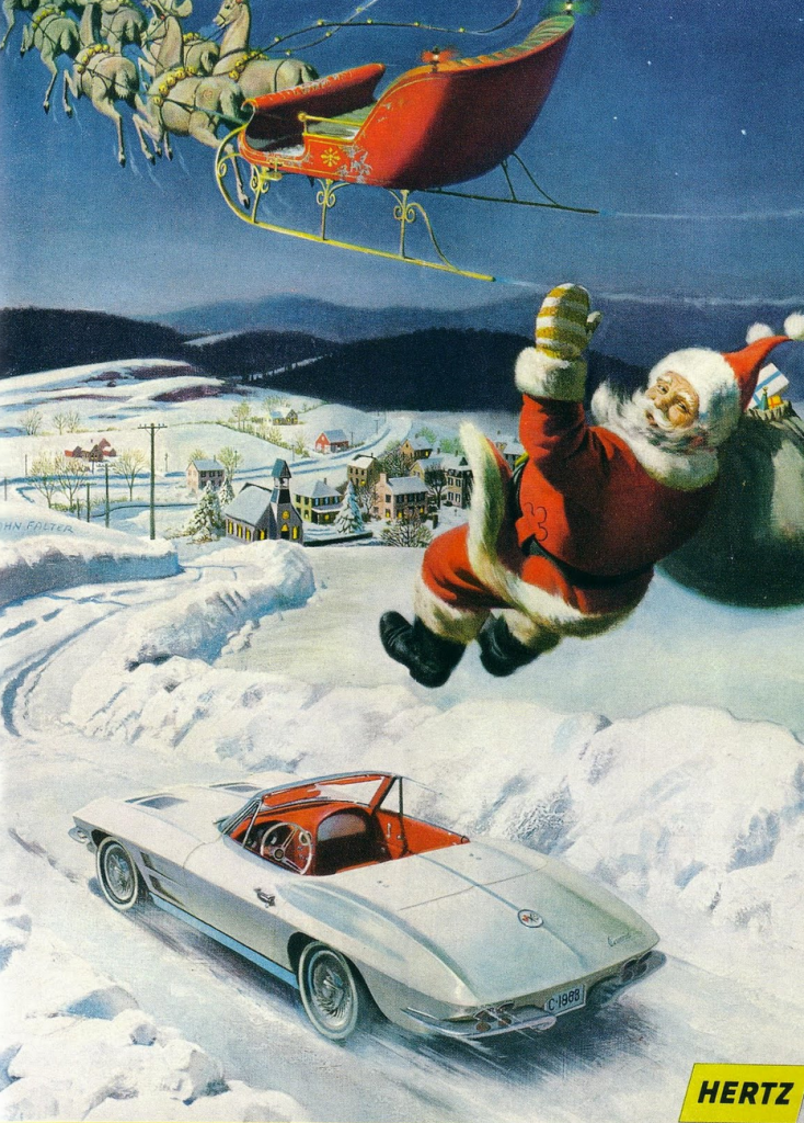 Classic Christmas Tree: Christmas Madness! 6 Classic Car Ads With A Holiday Theme