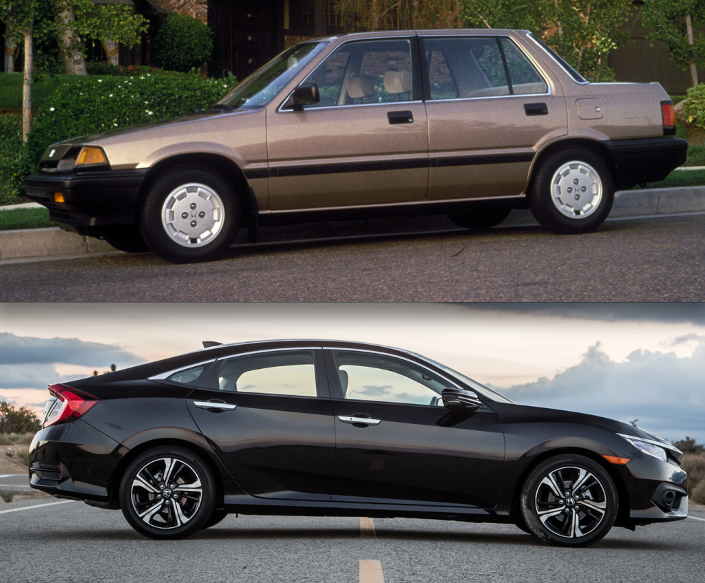 Honda civic growth curve 1986 versus 2016 the daily for Honda accord vs honda civic