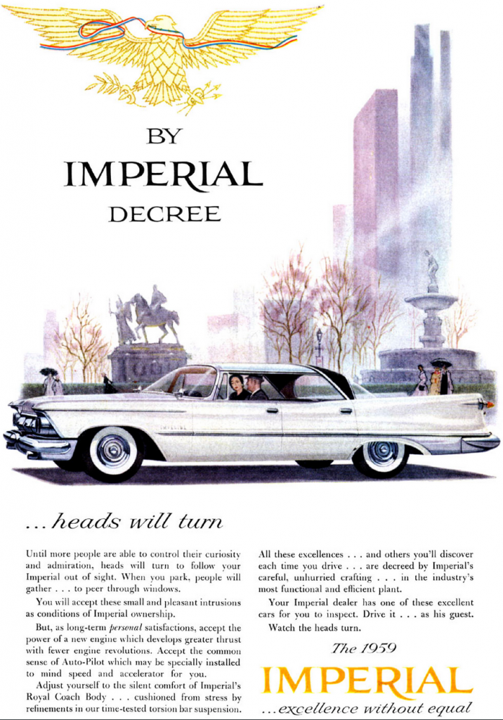 Model Year Madness 10 Classic Ads From 1959 The Daily