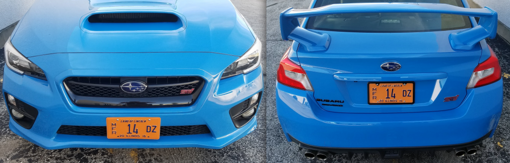 WRX STI front and rear clip
