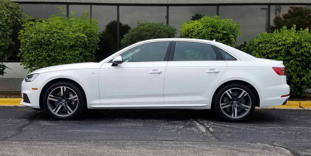 2017 Audi A4 profile Ibis White