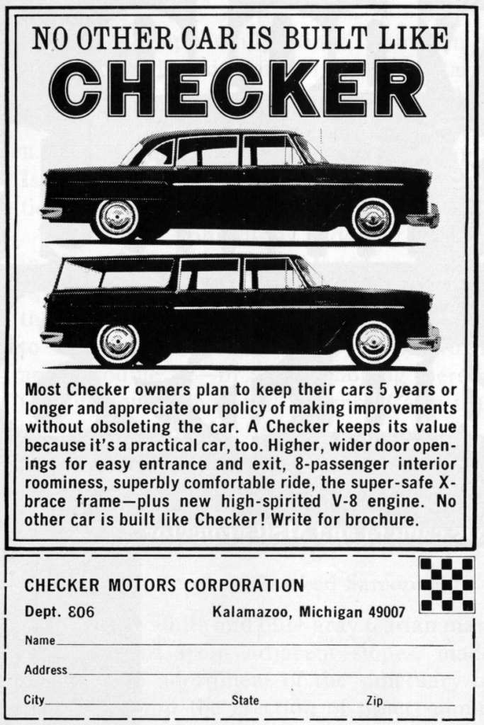 1967 Checker Ad