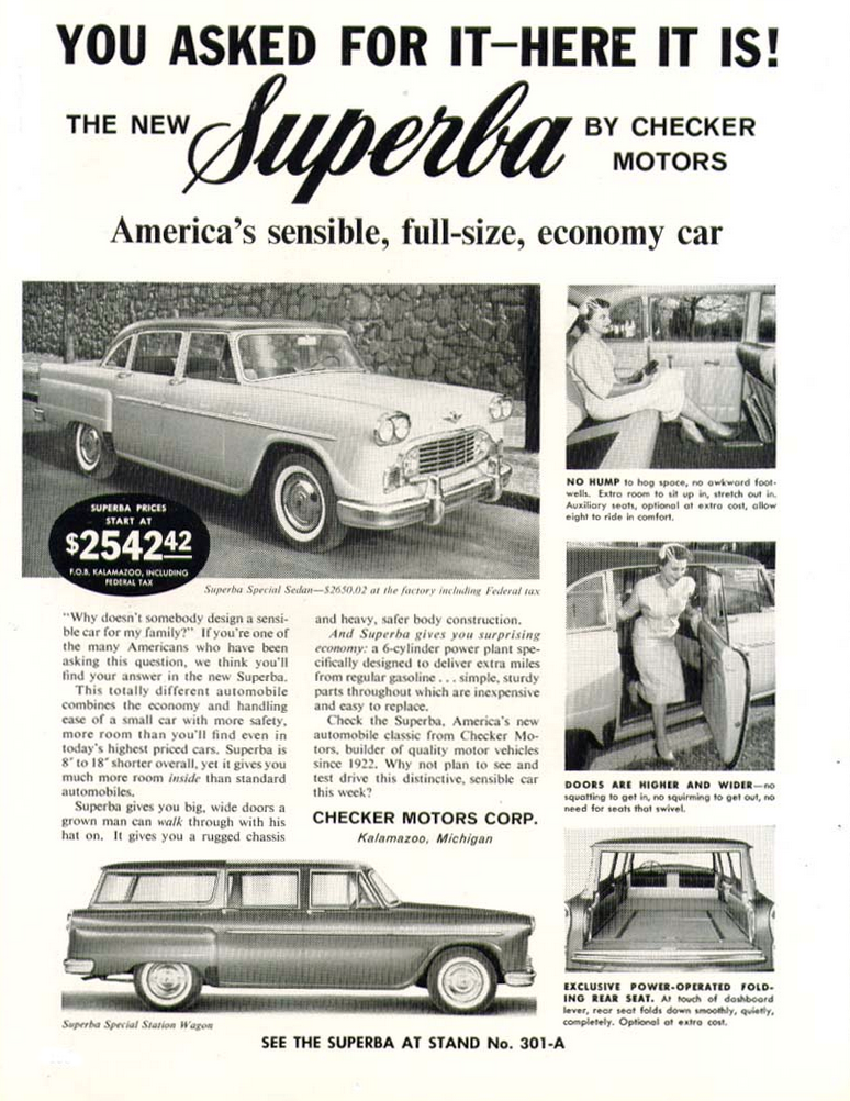 1960 Checker Ad