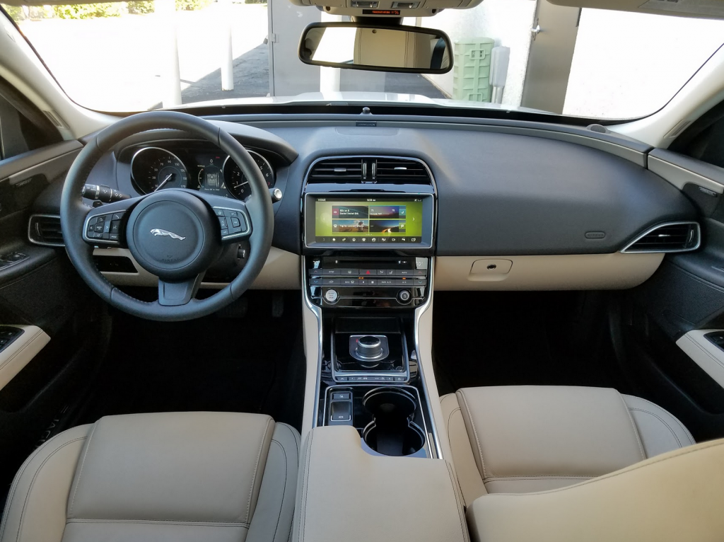 Jaguar XE dash and console