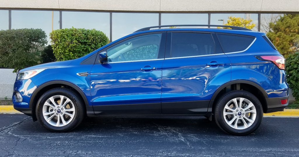 2017 Ford Escape profile, Lightning Blue Metallic