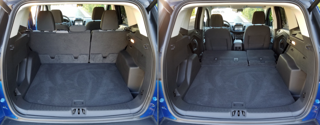 2017 Ford Escape, rear seat folded