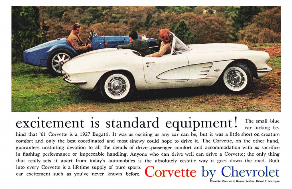 1961 Chevrolet Corvette Ad