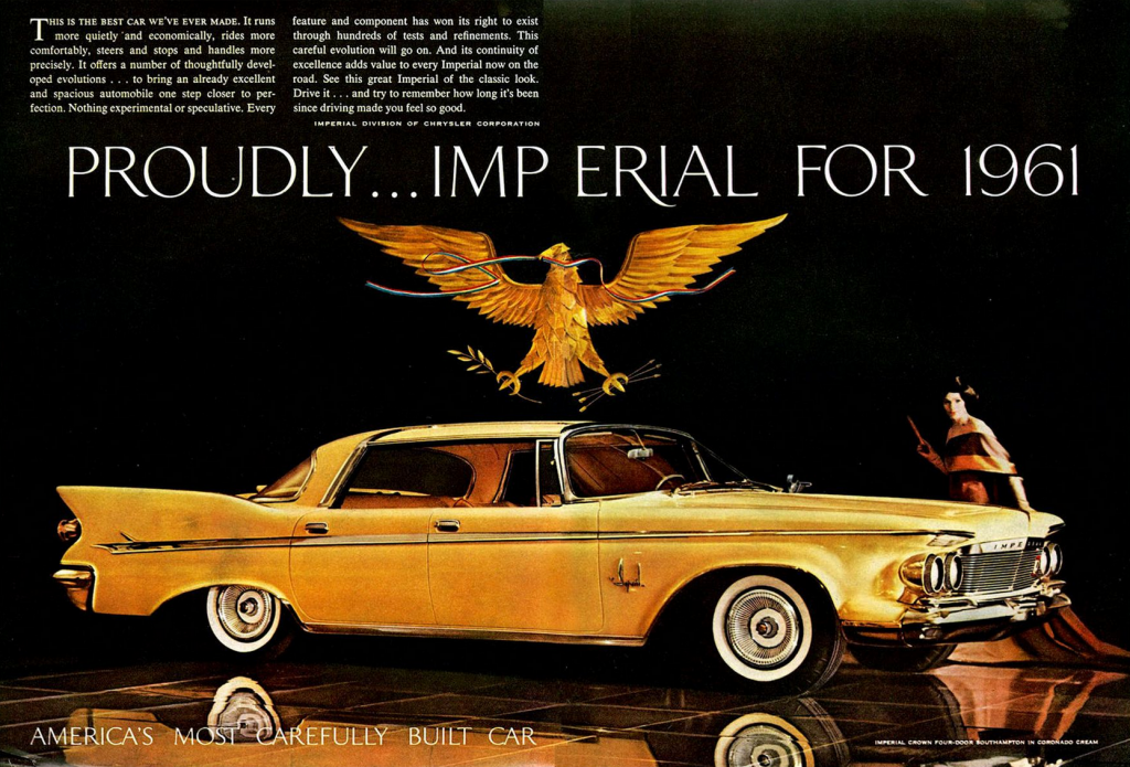 Model Year Madness 10 Classic Ads From 1961 The Daily