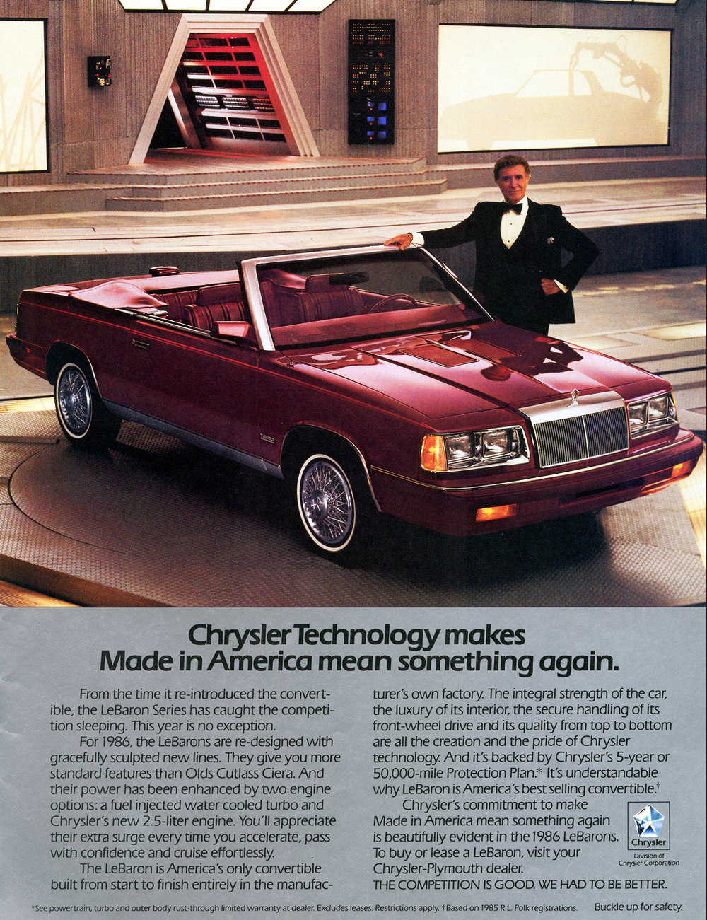 1986 Chrysler LeBaron Convertible Ad