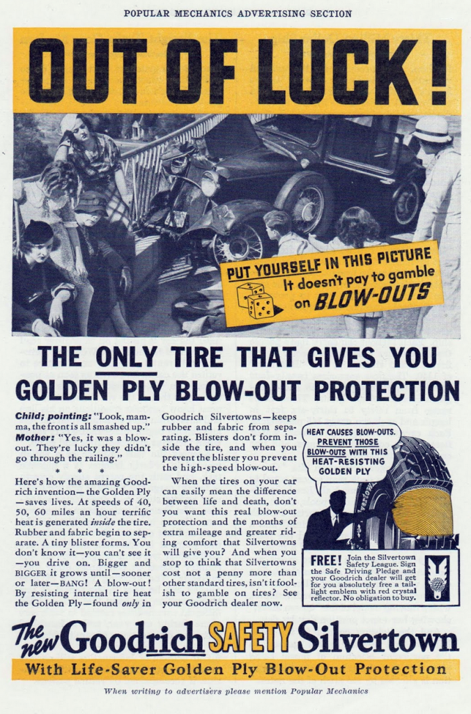 1936 Goodrich Tire Ad