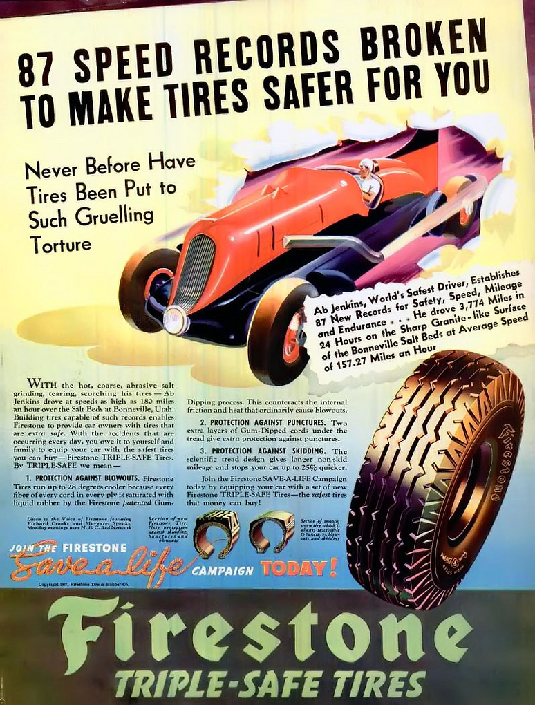 1942 Firestone Tire Ad