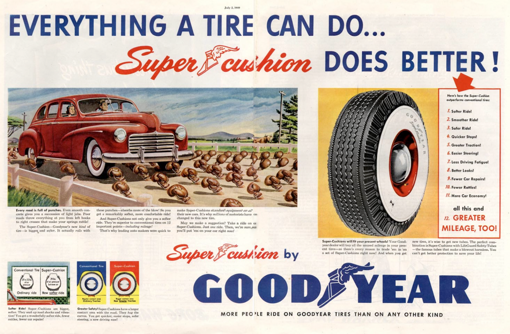 1949 Goodyear Tire Ad