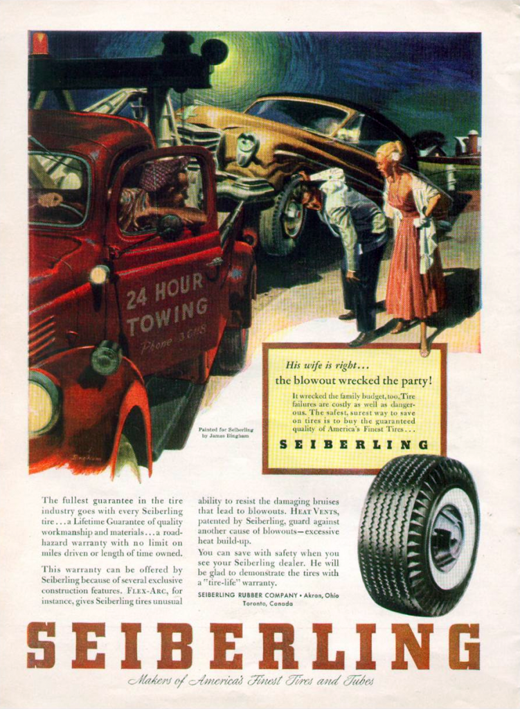 1953 Seiberling Tire Ad