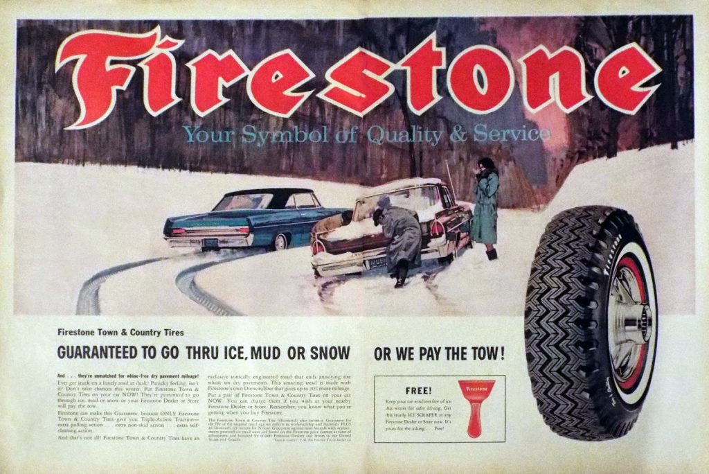 1968 Firestone Tire Ad