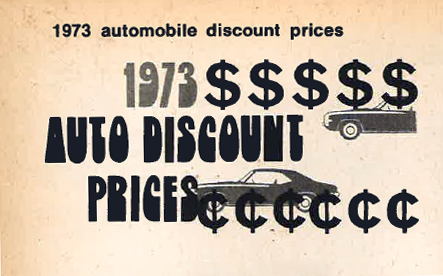 1973 import-car prices