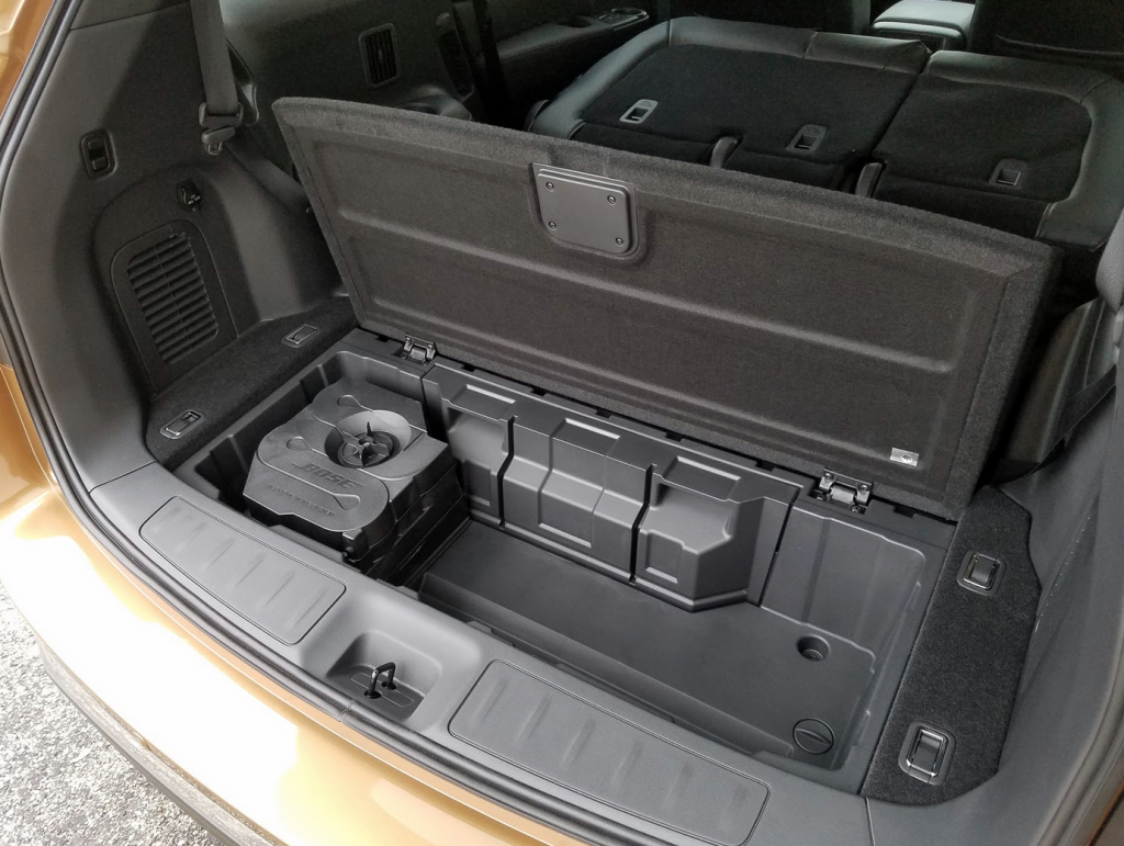 2017 Pathfinder under-floor storage