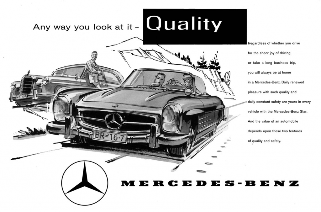 1963 Mercedes Roadster Ad