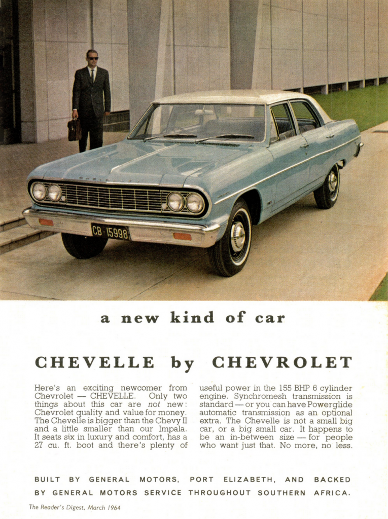 1964 Chevelle Ad (South Africa)