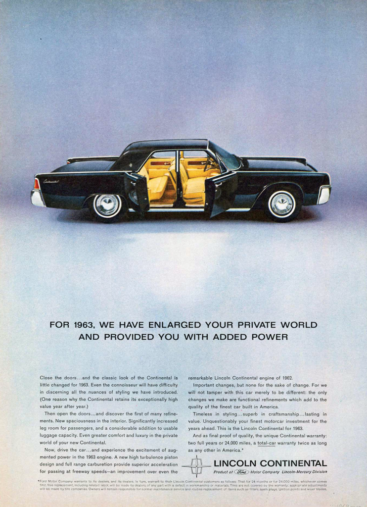 Old Classic Cars >> Model-Year Madness! 10 Classic Ads From 1963 | The Daily ...