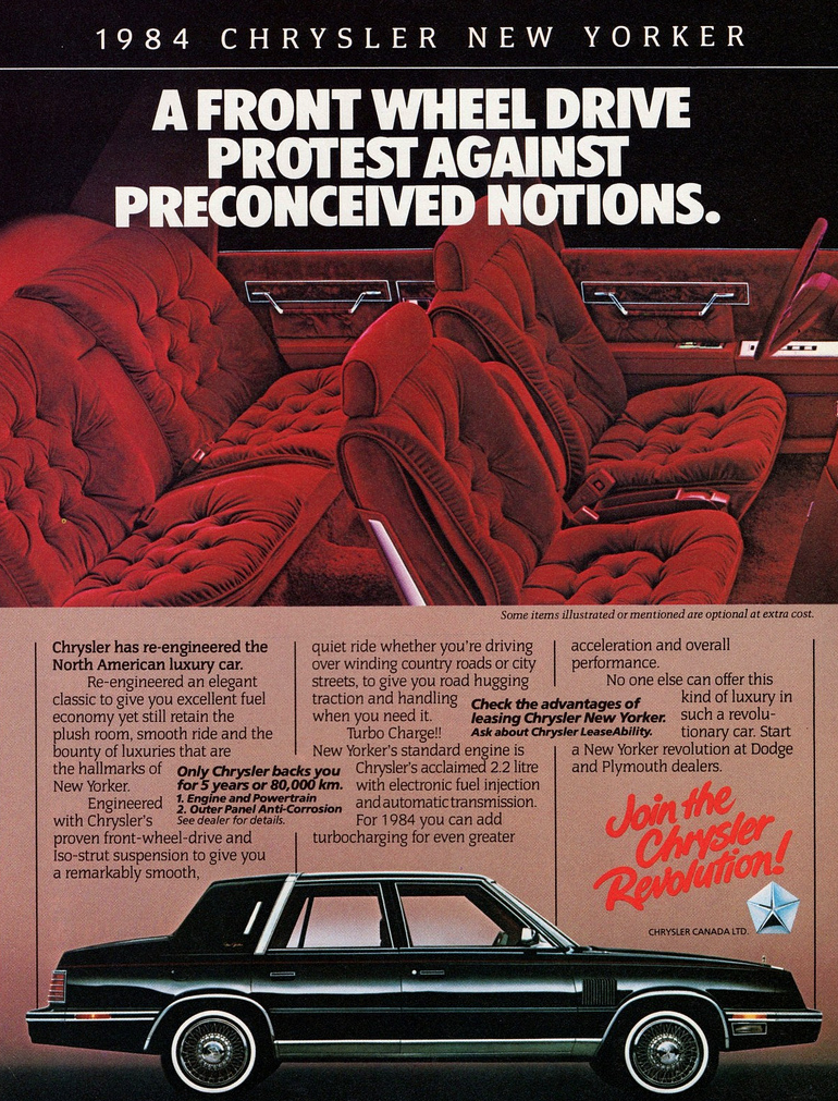 1984 Chrysler New Yorker Ad