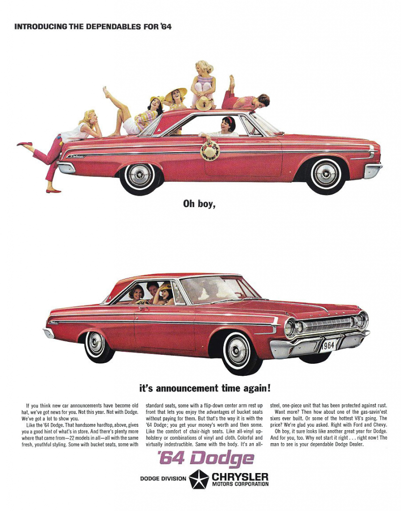 Model Year Madness 10 Classic Ads From 1964 The Daily Drive Dodge Police Car Ad