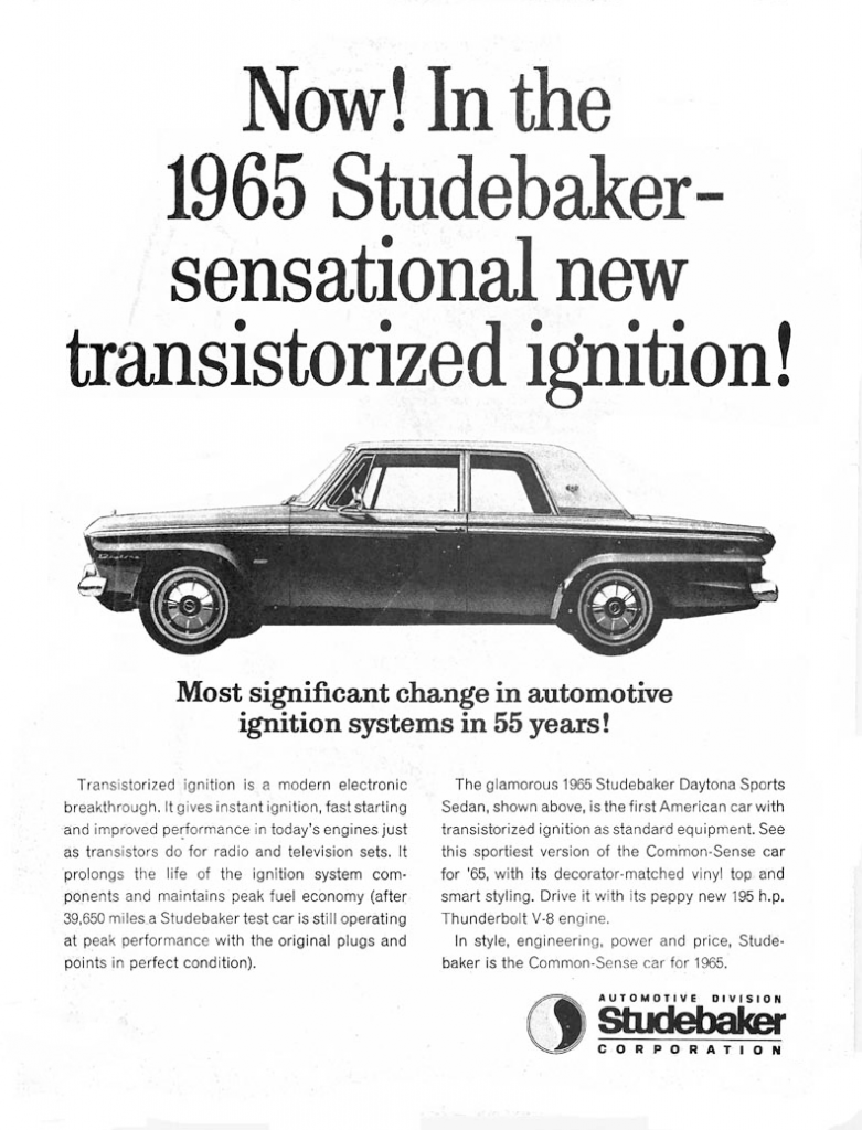1965 Studebaker Ad, Classic Ads From 1965
