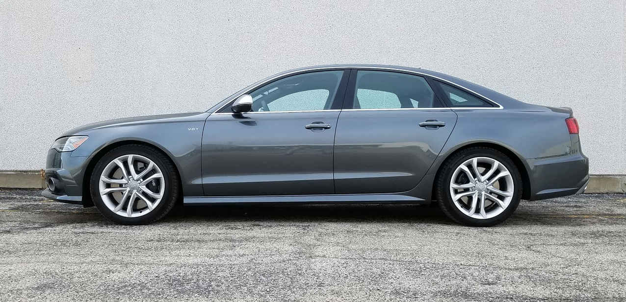 Audi S6 in Daytona Gray, profile