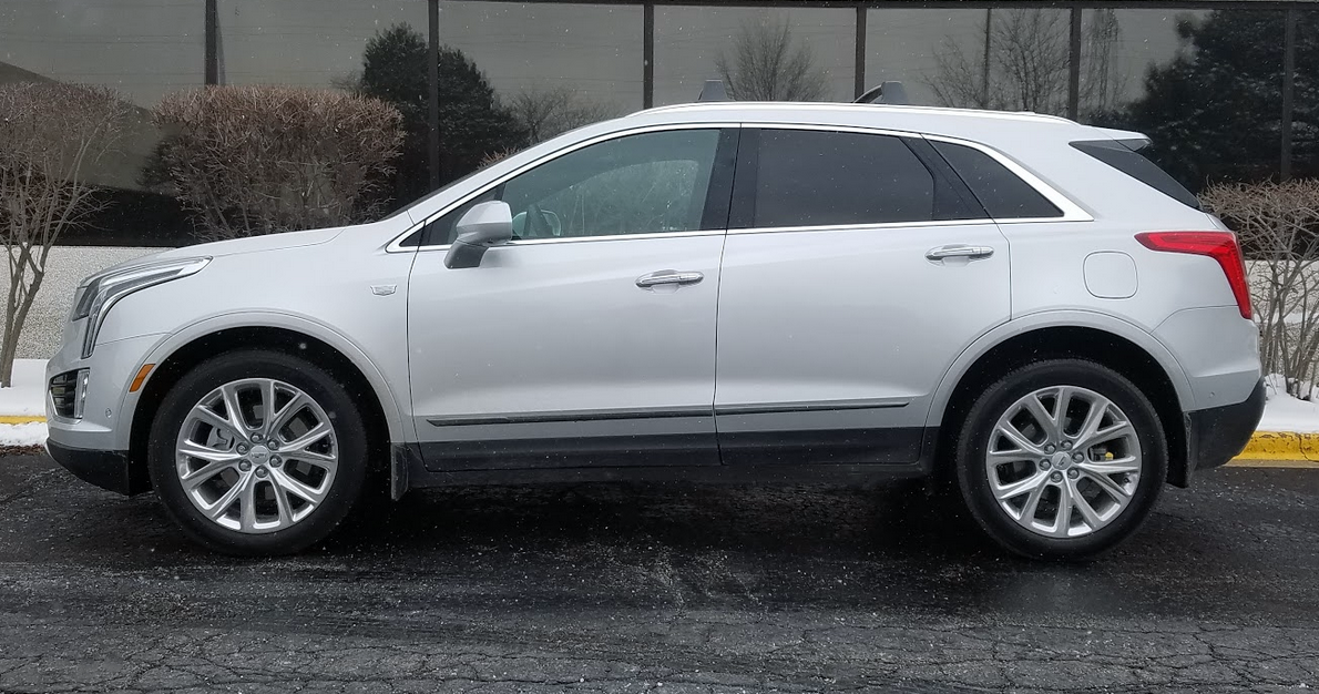 Cadillac XT5 in Radiant Silver, profile