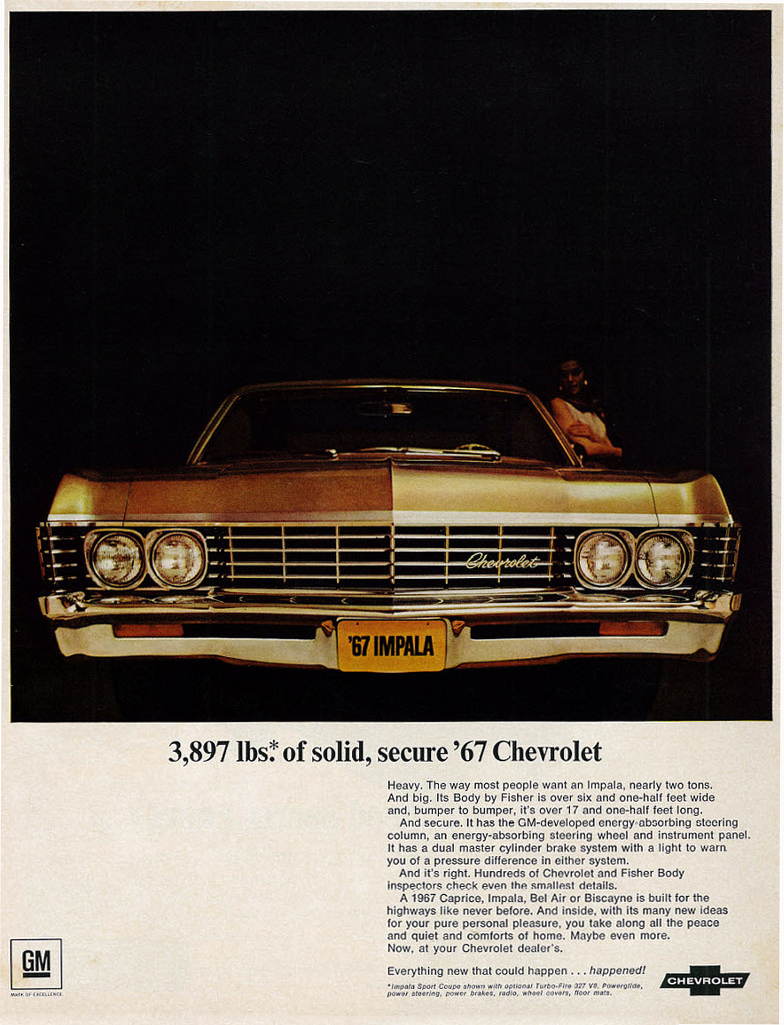 1967 Cadillac Eldorado >> Model-Year Madness! 10 Classic Ads From 1967 | The Daily ...