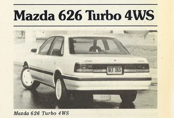 1988 Mazda 626 Turbo 4WS