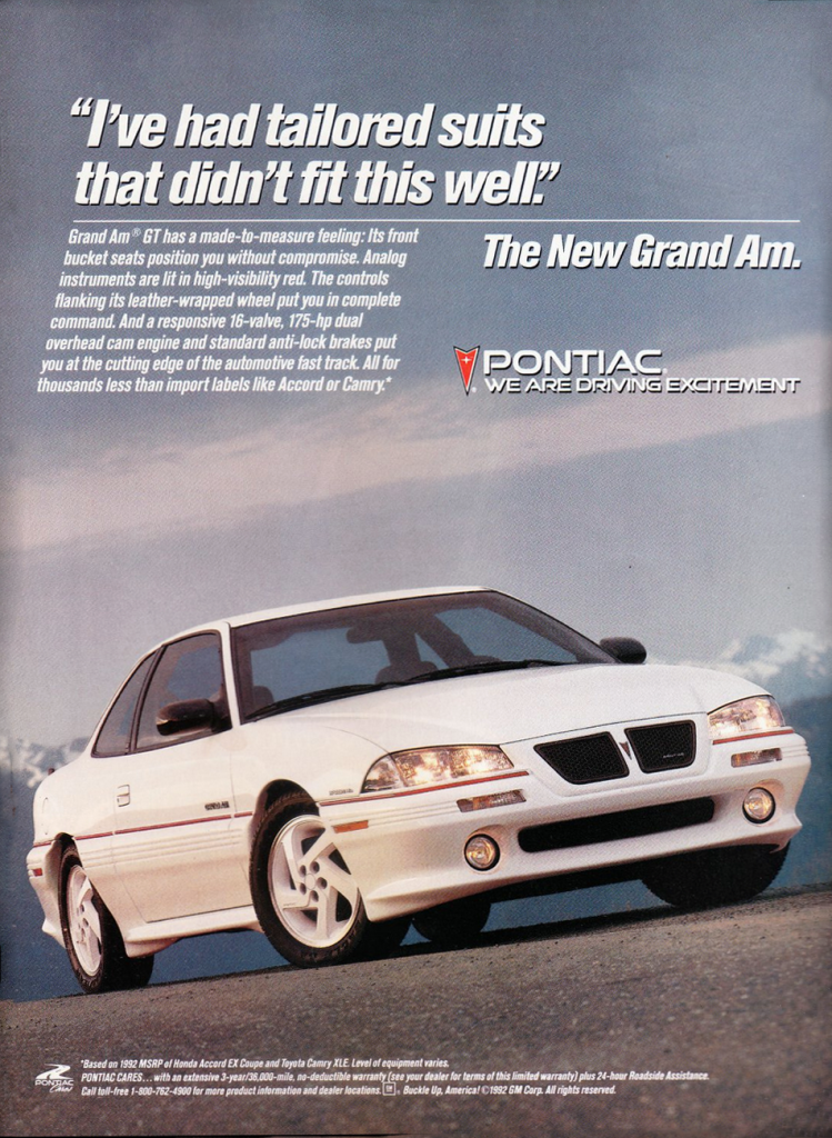1992 Pontiac Grand Am GT