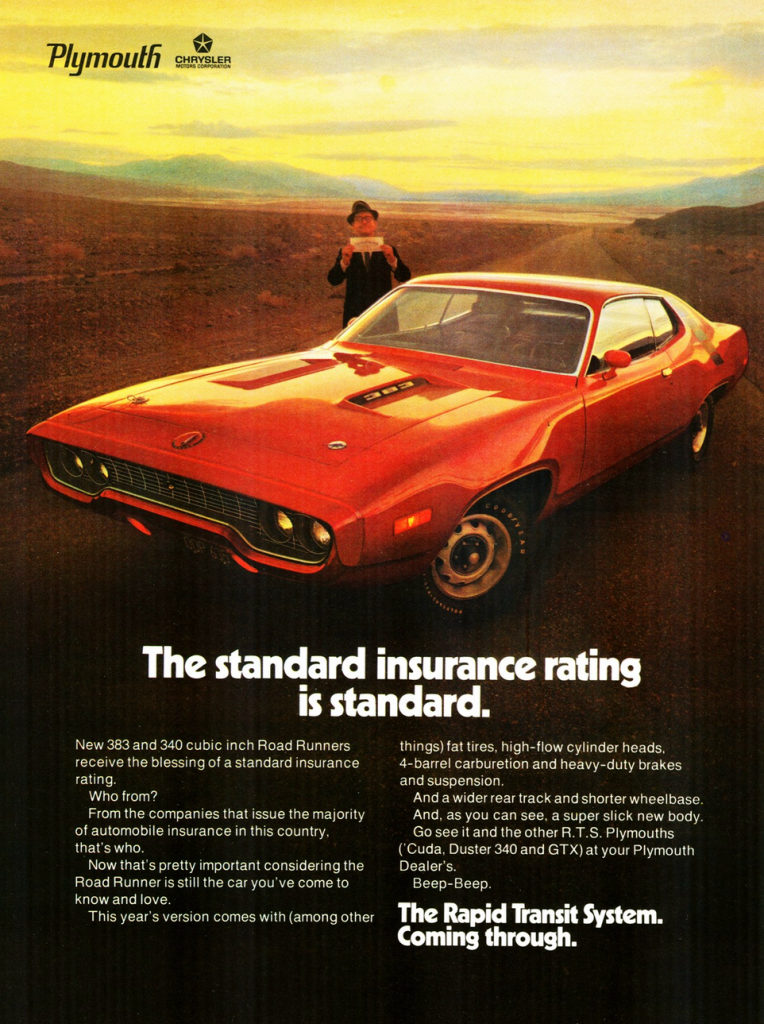 1971 Plymouth Road Runner Ad